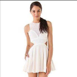 Three Floor White Cut Out Dress